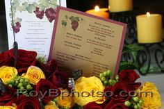 Color coordinating programs with grape vine detailing | villasiena.cc