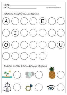 6 - Atividades com Alfabeto
