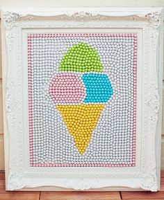 chevron pastel sweet shoppe party: AMAZING artwork made out of sixlets candies!!!  {Paiges of Style}