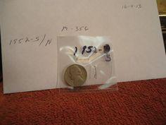 1952  S  //  FINE       // Jefferson Nickel  //  M-356