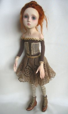 Love her eyes I love red head dolls