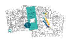 MONOQI | Ausmal-Platzsets - Citymap