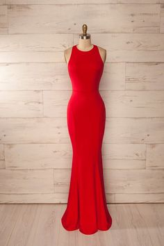 Red Fitted Halter Maxi Dress, Red Prom Dress, Sexy Prom Dress, Backless Evening Dress, Formal Dress For Woman Prom Gowns Elegant, Backless Prom Dresses, Mermaid Prom Dresses, Red Dress Prom, Red Mermaid Dress, Dress Long, Evening Party Gowns, Formal Evening Dresses, Formal Dresses Long Elegant
