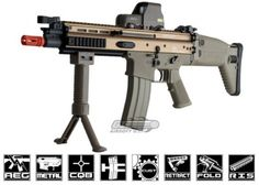 FN Herstal Full Metal SCAR CQC AEG Airsoft Gun By G ( Tan )
