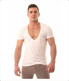 Wear bigger v necks and show off your built!