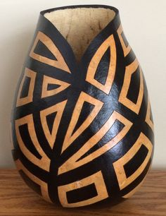 Geometric gourd art by SimplyGourdeous1 on Etsy
