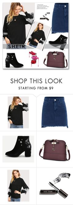 """Pearl And Layered Lace Detail Pullover"" by dina-795 ❤ liked on Polyvore featuring Bobbi Brown Cosmetics"