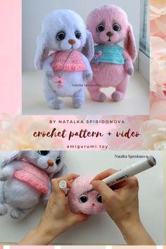 Animal Knitting Patterns, Crochet Patterns Amigurumi, Amigurumi Doll, Crochet Dolls, Doll Patterns, Crochet Bunny Pattern, Diy Crochet And Knitting, Sewing Basics, Stuffed Toys Patterns