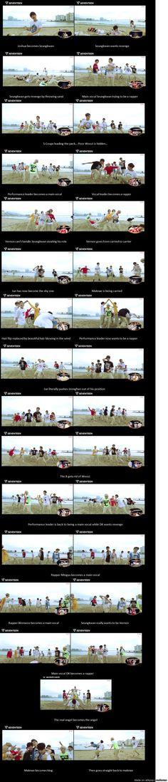 Seventeen role switch ... Cutest damn thing!!! | allkpop Meme Center