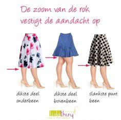 Zeven manieren om meteen slanker te lijken. Tip 5: Je rok moet altijd langer dan breed zijn.