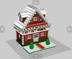 LEGO Gingerbread House instructions to go with winter village 10199 toyshop in Toys & Hobbies Lego Christmas Village, Lego Winter Village, Lego Village, Lego Bedroom, Bedroom Kids, Bedroom Furniture, Lego Gingerbread House, Lego Craft, Minecraft Crafts