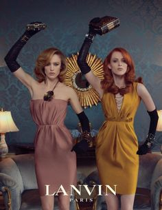 Raquel Zimmermann and Karen Elson for Lanvin Fall 2011. Photographed by Steven Meisel.