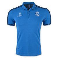 15-16 Real Madrid Football Shirt Cheap Blue Europa Replica Polo Shirt [D760]