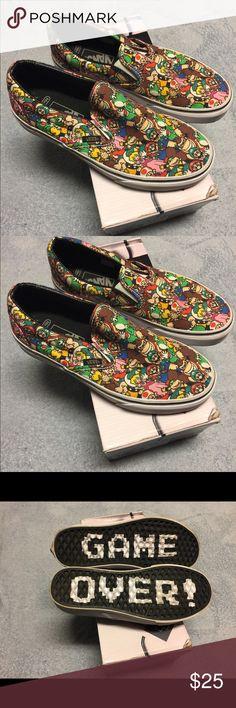 Mario Brother Size 6 men's Vans New Mario Brother size 6 Vans Vans Shoes