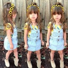 49 Ideas For Fashion Kids Summer Toddlers Cute Little Girls Outfits, Little Girl Fashion, Toddler Girl Outfits, Toddler Fashion, Kids Fashion, Style Fashion, Trendy Fashion, Outfits Niños, Baby Outfits