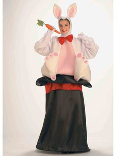 Pair this Adult Magic Hat Rabbit Costume with a magician costume for a funny duo! You'll wow the crowd in this funny costume. Rabbit Halloween, Adult Halloween, Halloween Ideas, Halloween Party, Halloween 2018, Halloween Night, Funny Halloween, Halloween Crafts, Rabbit Costume