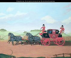 Thomas Sidney Cooper - The Liverpool and London Royal Mail Coach, 1812