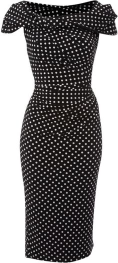 Pied A Terre Multicolor Polka Dot Slinky Knot Dress
