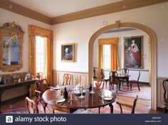 Dining Room At Birthplace Of Robert E. Lee - Stratford Hall Stock ...
