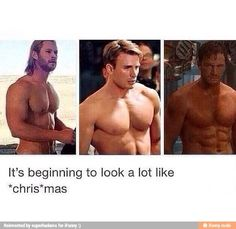 in every marvel movie. but the prettiest sight to see is the abs (like OMG). on the movie screen.