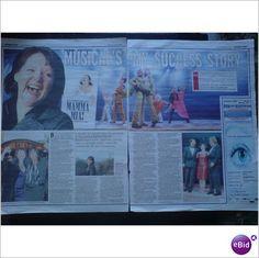 ABBA -Mamma Mia Success story Catherine Johnson Clippings magazine feature