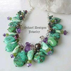 Schaef Designs Turquoise Amethyst Neckalce