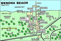 Wenona Beach Amusement Park, photos and history of this popular spot in Bay County, MI Bay City Michigan, Bay County, Bay Boats, Tri Cities, Great Lakes, Amusement Park, Illinois, Places To See, Beaches