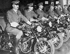 """City's """"Speed Cops"""" line up for inspection, before the days of safety helmets. (You did not """"sukkel"""" with these ok's."""