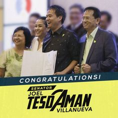 The Jesus Is Lord (JIL) Church Worldwide warmly congratulates one of our very own, SENATOR-ELECT JOEL VILLANUEVA. We are one with you in fulfilling this new mandate, para sa Diyos at Bayan!