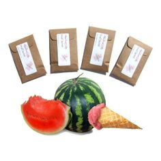 4 #sachets in Watermelon Sherbet Scent - Summer Home Fragrance #handmade on #etsy by #pebblecreekcandles