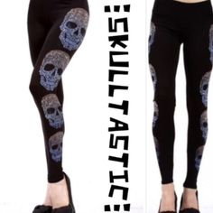 """💥HP 10/26💥SKULL LEGGINGS WITH LOTSA BLING These are a must have! Very pretty, blingy skull design down each side of leggings. Stretchy and crazy cool! 92% polyester/8% spandex. Made in USA🇺🇸.                                                             ♦️XL: waist 31- 41"""" hips 31-41"""" length 31""""                            ♦️1X: waist 33-43"""" hips 48-58"""" length 31.5""""               ♦️2X: waist 35"""" 45"""" hips 50-60"""" length 31.5""""             ♦️3X: waist 37-47"""" hips 52-62"""" length 32"""" tla2 Pants…"""