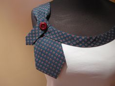 Necktie Cami. $28.00, via Etsy. Too bad this is sold - it's absolutely gorgeous! I love the colours. Tie Crafts, Fabric Crafts, Sewing Crafts, Sewing Projects, Old Clothes, Sewing Clothes, How To Make Clothes, Dressmaking, Old Ties