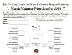 Wine Bracket for March Madness