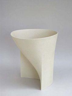 Ashraf Hanna; 'White Bowl Form' Ceramic Vessel, 2010s.