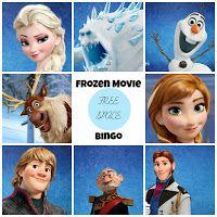 Frozen Free Printable Bingo.