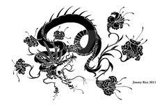 Dragon flower tattoo design by iamcarpetpython on DeviantArt