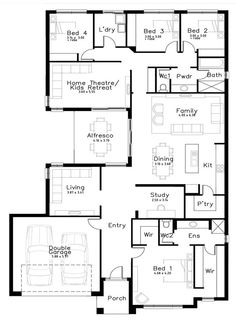 Oasis - Dechellis Homes Best House Plans, Dream House Plans, Modern House Plans, House Floor Plans, Home Design Plans, Plan Design, Detail Architecture, 4 Bedroom House Plans, House Blueprints