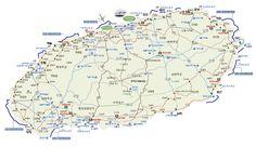 제주도 지도 Jeju Island, Maps, Travel, Viajes, Map, Trips, Traveling, Tourism, Cards