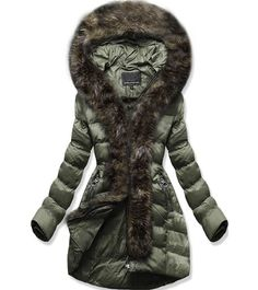 Dámská zimní bunda s kapucí W756 zelená Winter Jackets, Fashion, Winter Coats, Moda, Winter Vest Outfits, Fasion, Trendy Fashion, La Mode