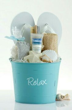 10 gorgeous diy gift basket ideas pinterest basket ideas gift create a summery diy spa gift basket with flip flops idea via pleasant surprises do it yourself gift baskets ideas for all occasions perfect for negle Gallery