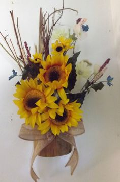 Home wall decoration with sunflowers\ decoracion con Girasoles para pared