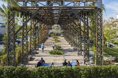 Image 18 of 45 from gallery of 2015 Los Angeles Architectural Awards Honor Drought-Conscious Design. Burbank Water and Power EcoCampus. Parque Industrial, Industrial Park, Industrial Architecture, Landscape Architecture Design, Green Architecture, Industrial Style, Water Powers, Water Pond, Pergola