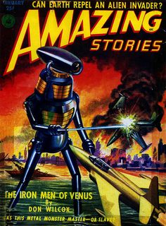 Amazing Stories February 1952 Classic Vintage Science Fiction Sci Fi Pulp Book by YellowcakeMushroom, via Flickr
