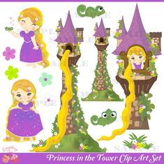 Princess in the Tower Clip Art Set