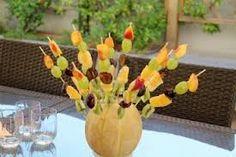 centros de mesa frutales