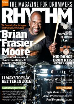 #Rhythm Magazine 250. The 10 best mid-range #drumkits. New stuff from Peter Erskine, Sikth, Steak Number Eight, Skunk Anansie and more..
