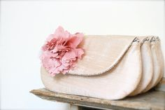 blush wedding clutch bridesmaids gift ideas personalized by eclu, $62.00