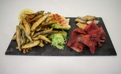 Mother's Day Starter Sharing Platters:  Fish - Deep Fried Whitebait, Beetroot Glazed Smoked Salmon, Smoked Mackerel, Marie Rose Prawn Cup and Cucumber and Dill Spaghetti  #LondonClubFood