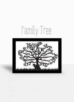Paper Cut Family Tree - The Supermums Craft Fair