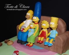 - The Simpsons The Simpsons, Bolo Simpsons, Simpsons Party, Biscuit, Fondant Figures Tutorial, Beautiful Birthday Cakes, Cakes For Men, Rose Cake, No Bake Cake
